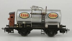 Märklin H.O.  #314E Esso 2 Axle Die Cast Tank Car, 1950s