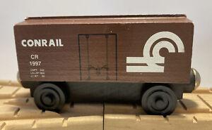 Whittle Shortline Railroad Wooden Train Set Conrail Boxcar USA. Thomas Brio Comp