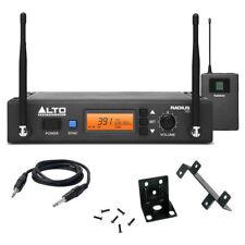 Alto rayon 100M uhf diversité radio instrument ou guitare kit + ceinture pack + plomb