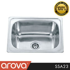 304 Stainless Steel 35l Single Bowl Laundry Tub Sink With by Pass Kit - Ssa23
