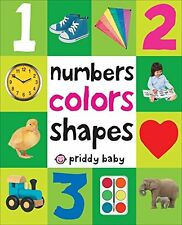 First 100 Numbers Colors Shapes Board Book for Toddler Children Baby Preschool