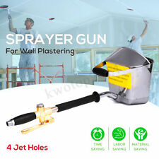 Cement Mortar Concrete Air Stucco Sprayer Hopper Wall Plastering Gun Tool 4 Jets