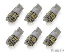 6 x T10 W5W 501 Capless Wedge 20 SMD White LED Park Side Light Bulbs 24 Volt