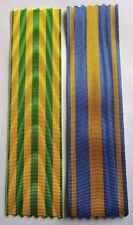 Lot de 2 rubans NEUFS pour médailles commémoratives en Indochine et Moyen-orient