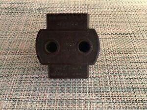 Vintage brown bakelite 2 pin 3 way 15 amp / 5 amp electric plug/socket Adaptor