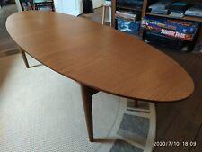 Vintage Danish style mid century oval wood coffee Table salon basse Bois IKEA