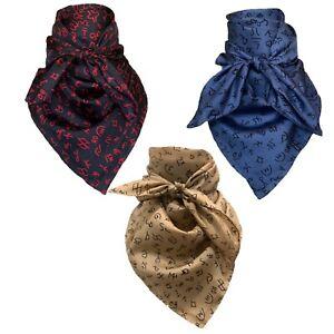 Wild Rag Wyoming Traders Cowboy Brands 20,34,42 Inch Silk Scarf Bandana S,L,XL