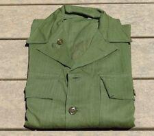 1940s US Army WWII HBT Cotton Utility Shirt sz 36R 40s WW2 Jacket Military Minty