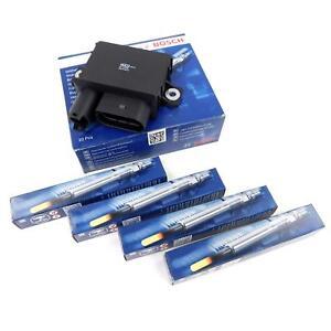 4x BOSCH Glühkerze + 1x Glühsteuergerät für BMW E46 E90 318d 320d E81 118d 120d