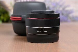 Samyang AF 35mm F/2.8 FE Lens for Sony E-mount with Caps and Case