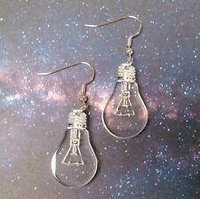 Light Bulb Charisma Earrings Idea Eclectic Statement Dangle Style Lightbulb