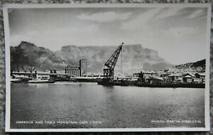 Harbour and Table Mountain Cape Town Vintage Unused Postcard South Africa