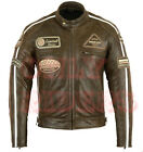 Veste En Cuir Homme Moto, Biker, Blouson Moto, Biker Jacket, Retro Vintage XL