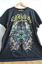 Ed Hardy Men's XXL 2X T-Shirt Black LOVE KILLS SLOWLY Women Skulls