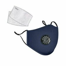 Face Mask Cotton Reusable Air Purifying Washable Mask Haze Pollution+ 2 Filters