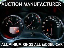Seat Leon II 1P 2005-2012 Dashboard GAUGE Dash Chrome DIAL Aluminium Rings x3