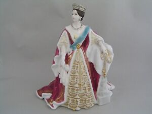 """RARE ROYAL WORCESTER YOUNG QUEEN VICTORIA 9"""" FIGURINE."""