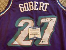 Rudy Gobert Utah Jazz Autographed Signed Jersey size L Beckett COA