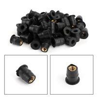 50x Neopren Mutter Gummimutter M5 Vibrationsdämpf Verkleidungsbefestigung 5mm TZ