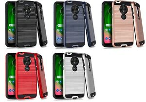 For Motorola G7 Optimo XT1952DL Slim Metallic Hybrid Case Phone Cover