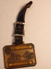 Frank G. Hough Co. equipment advertising watch fob & strap: Payloader/ dozers