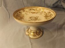 Gorgeous Noritake Japan Compote With Gold Flower Inlay