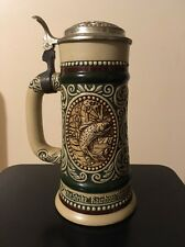 Vintage Collectible Avon Stein Trout/English Setter Handcrafted In Brazil 1978