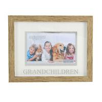 "Juliana Grandchildren Natural Wood Effect Photo Frame Suits 6"" x 4"" Photos"