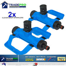 2x Wobble Tee pro Clever Drop Sprinkler Aussie Model Water Saving Grass Lawn