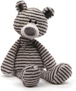"Gund Zag Teddy Bear Stuffed Animal Plush, 13"", Black and White Stripes"