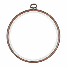 Embroidery Flexi Hoop CrossStitch Sewing Round Plastic Frame Free Postage 6 inch