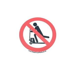 Do not ride on pallet truck - Safety Warning Prohibited Sticker – x1no.