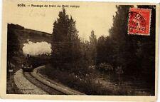CPA  Boén - Passage de train au Pont rompu  (226399)