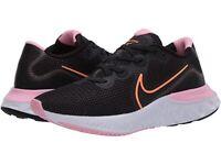 Nike Women's Renew Run Running Shoes (Black/Pink/Orange, Size 8.0)