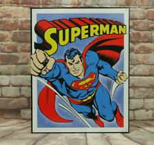 Superman Retro Panel Metal Sign for Man Cave, Garage or Bar Made in America
