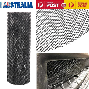 Car 40''x13'' Rhombic Grill Mesh Net Sheet Black Aluminum Alloy Bumper 6x12mm AU
