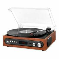 Victrola All-in-1 Record Player with Speakers and 3-Speed Turntable Mahogany