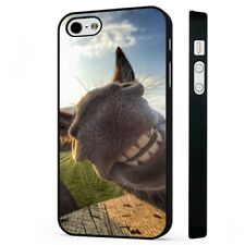 Donkey Grin Smiling Funny Face Big Ears BLACK PHONE CASE COVER fits iPHONE