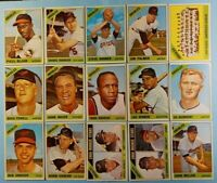 Vintage 1966 Old Topps Baseball Cards 15-card Orioles Lot *Jim Palmer RC #126*