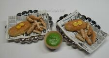 Barbie size Fish & Chips Dinner Fake Food for 11.5 inch dolls 1:6 scale