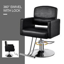 Hair Styling Hydraulic Barber Chair Shampoo Equipment Black Salon Beauty Spa