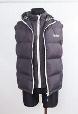 LEE COOPER NEW Men's Grey Sleeveless Hooded Gillet Bodywarmer Small Free UK P&P