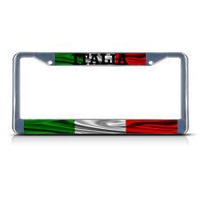 Italia, Italy Flag Italy METAL Chrome License Plate Frame Tag Holder