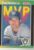 FREE SHIPPING-MINT-1989 Donruss MVP #BC-9 Paul Molitor Brewers PLUS BONUS CARDS
