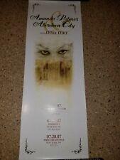 Amanda Palmer Aberdeen City Tour Poster July 2007 New of the Dresden Dolls Afp