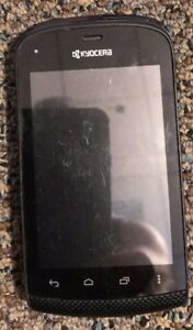 READ BEFORE YOU BUY Kyocera Hydro Plus C5170 Twigby Black Cell Phone Good Used