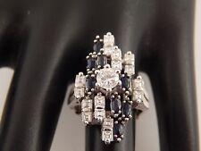 Transitional Cut Diamond Sapphire Cocktail Ring 2.67 tcw D/VS ART DECO Arthritic