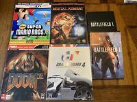 4 Vintage Video Game Guides - Prima - + Battlefield 1 Art - Doom Mario MK GT BF1