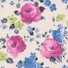 Rasch FLORENTINO Estampado Floral Acuarela Textura Papel Pintado Blanco Rosa