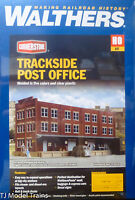 Walthers HO #933-4063 Trackside Post Office (Building Kit) 1:87th Scale -Plastic
